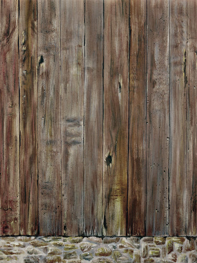 Wooden Wall Printed Photography Backdrop