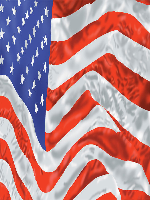 Patriotic Flag Printed Photography Backdrop