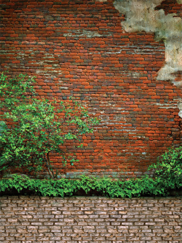 Ruby Brick Printed Photography Backdrop