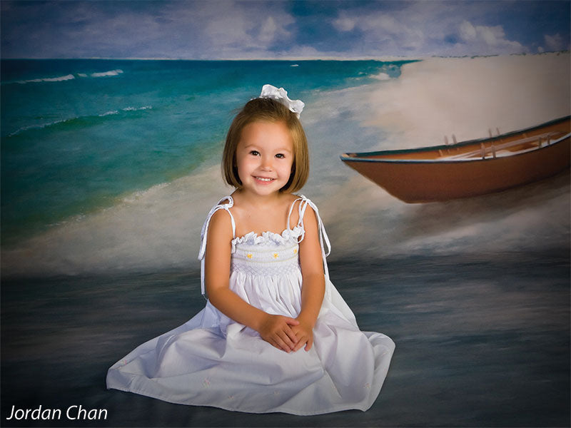 Beached Printed Photography Backdrop