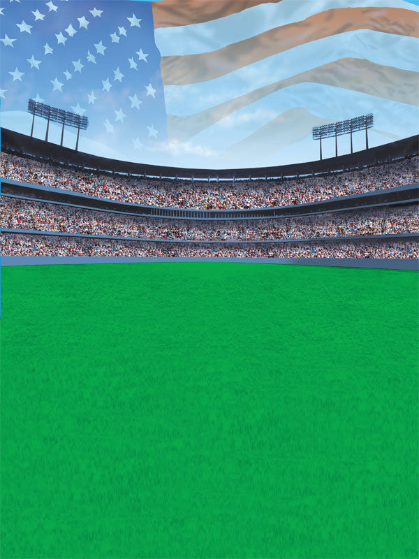 American Stadium Printed Photography Backdrop