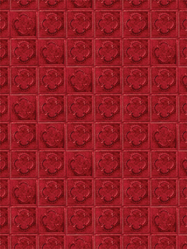 Red Tile Printed Photography Backdrop