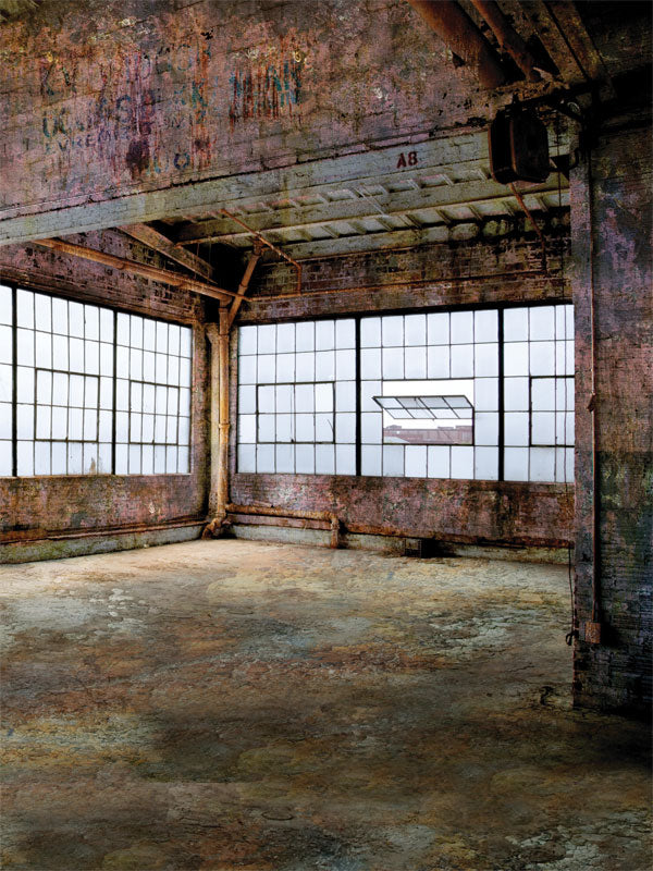 Old Factory Printed Photography Backdrop