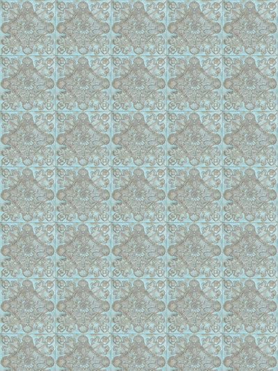 Luxembourge Pale Blue Printed Photography Backdrop