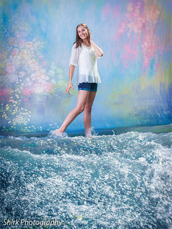 Water Flowers Printed Photography Backdrop