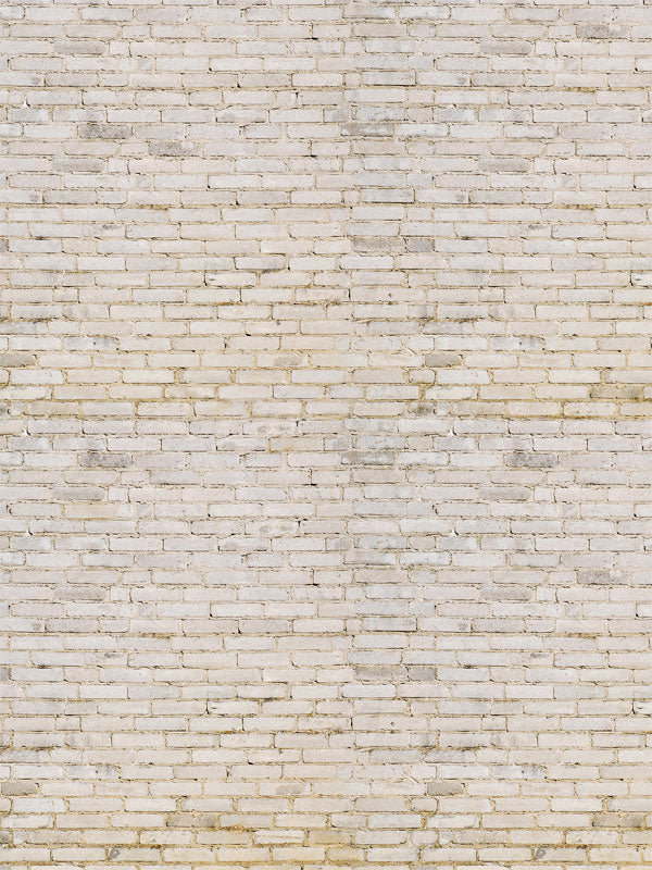 Bleached Brick Wall Printed Photography Backdrop