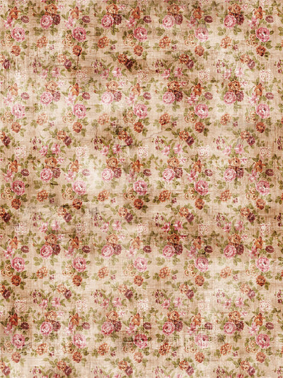 Vintage Rose Printed Photography Backdrop