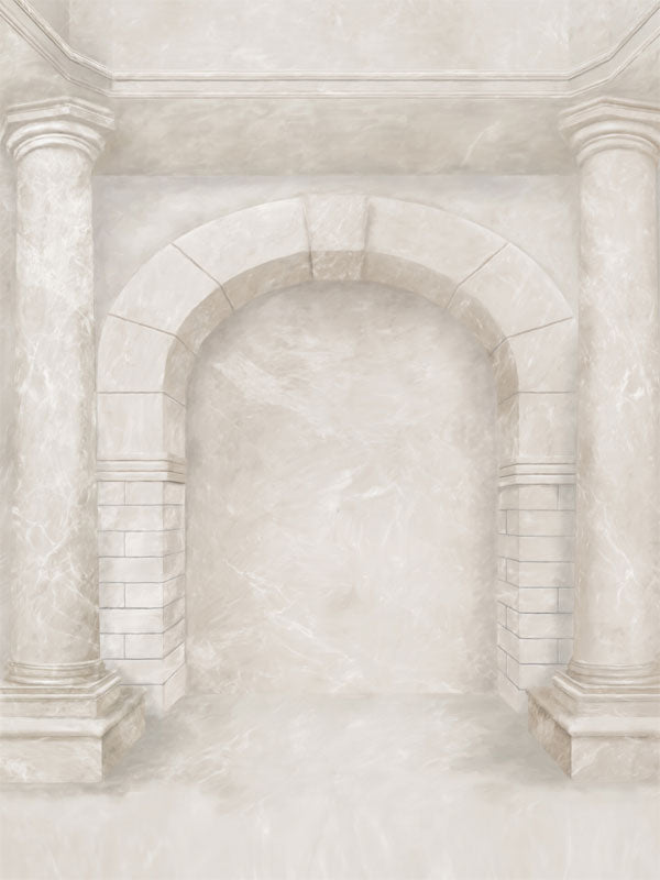 Ivory Arch Printed Photo Backdrop