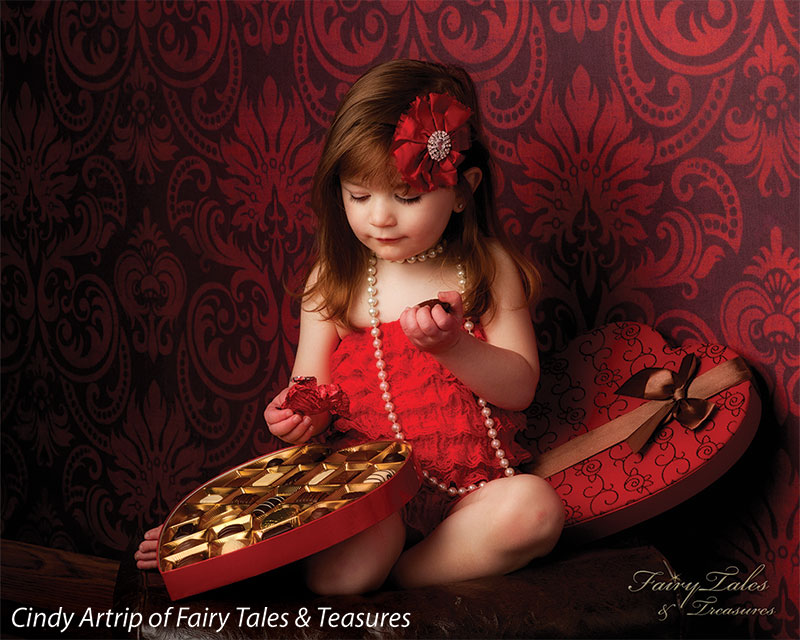 Estella Red No Rips Printed Photography Backdrop
