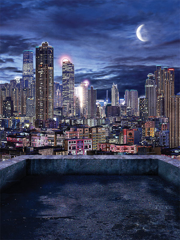 City Lights Printed Photography Backdrop