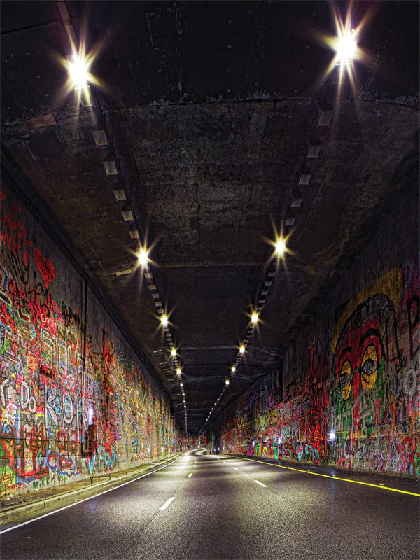 Graffiti Tunnel Printed Photography Backdrop