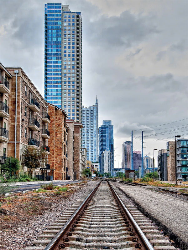 Austin Tracks Printed Photography Backdrop