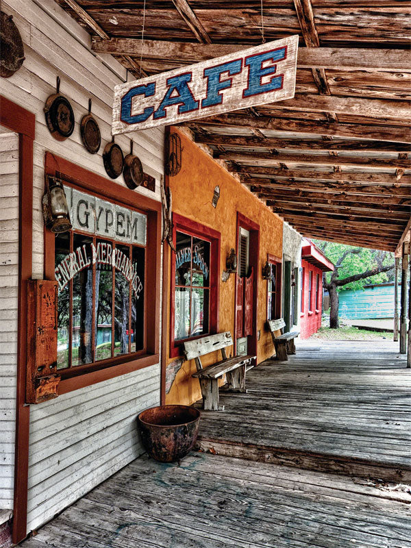 Old Town Cafe Printed Photography Backdrop
