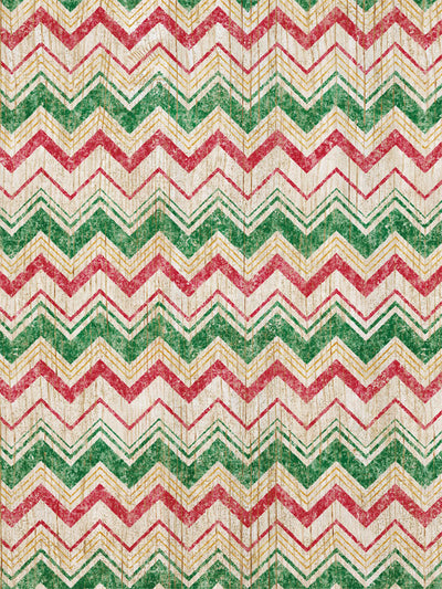 Christmas Chevron Printed Photography Backdrop