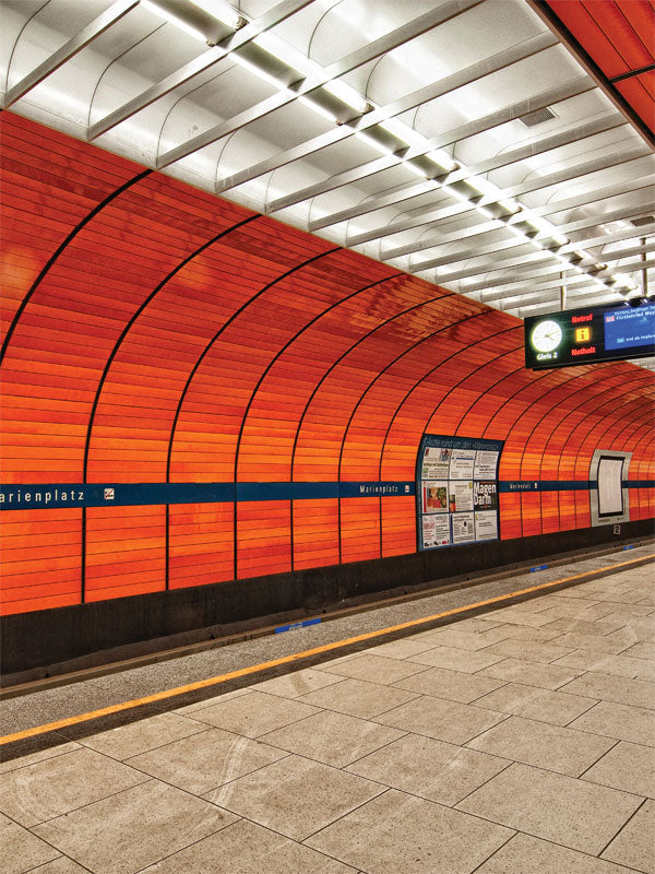 Munich Orange 2 Printed Photography Backdrop
