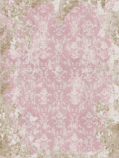 French Antique Baby Pink Printed Photography Backdrop