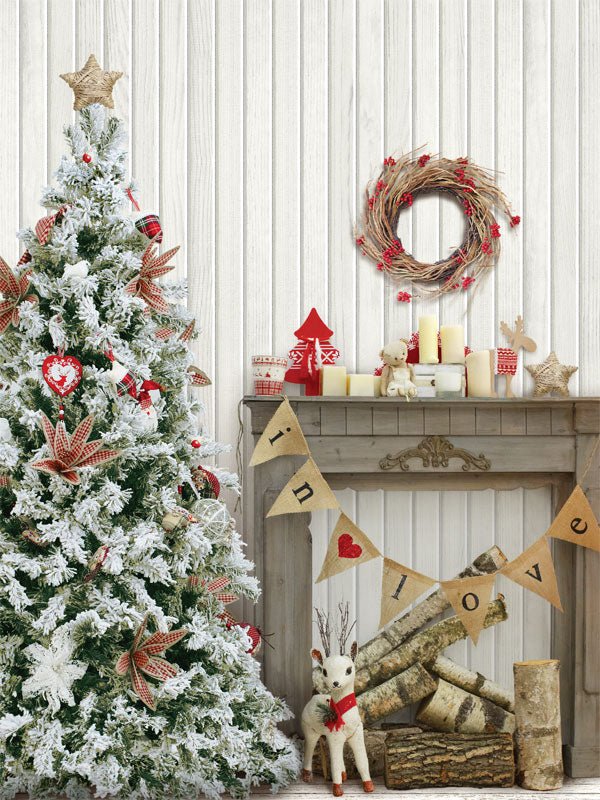 Christmas Cottage Printed Photography Backdrop