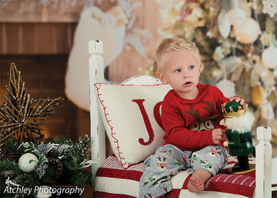 Rustic Christmas Printed Photography Backdrop