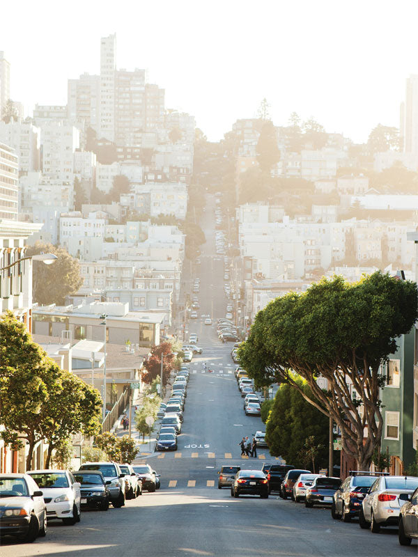 San Francisco Street Printed Photography Backdrop