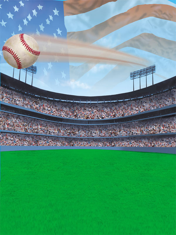 Home Run Baseball Printed Photography Backdrop