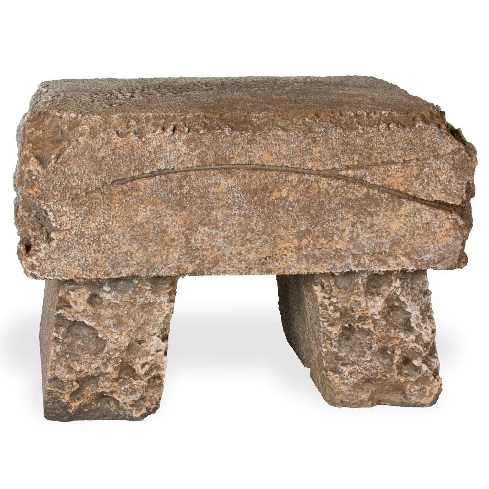 Brown Rock Bench Photo Prop