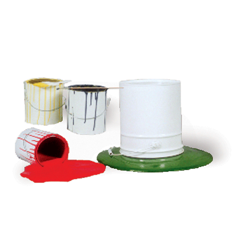 Spilled Paint Can Prop Set