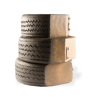 angle view of tire photo prop