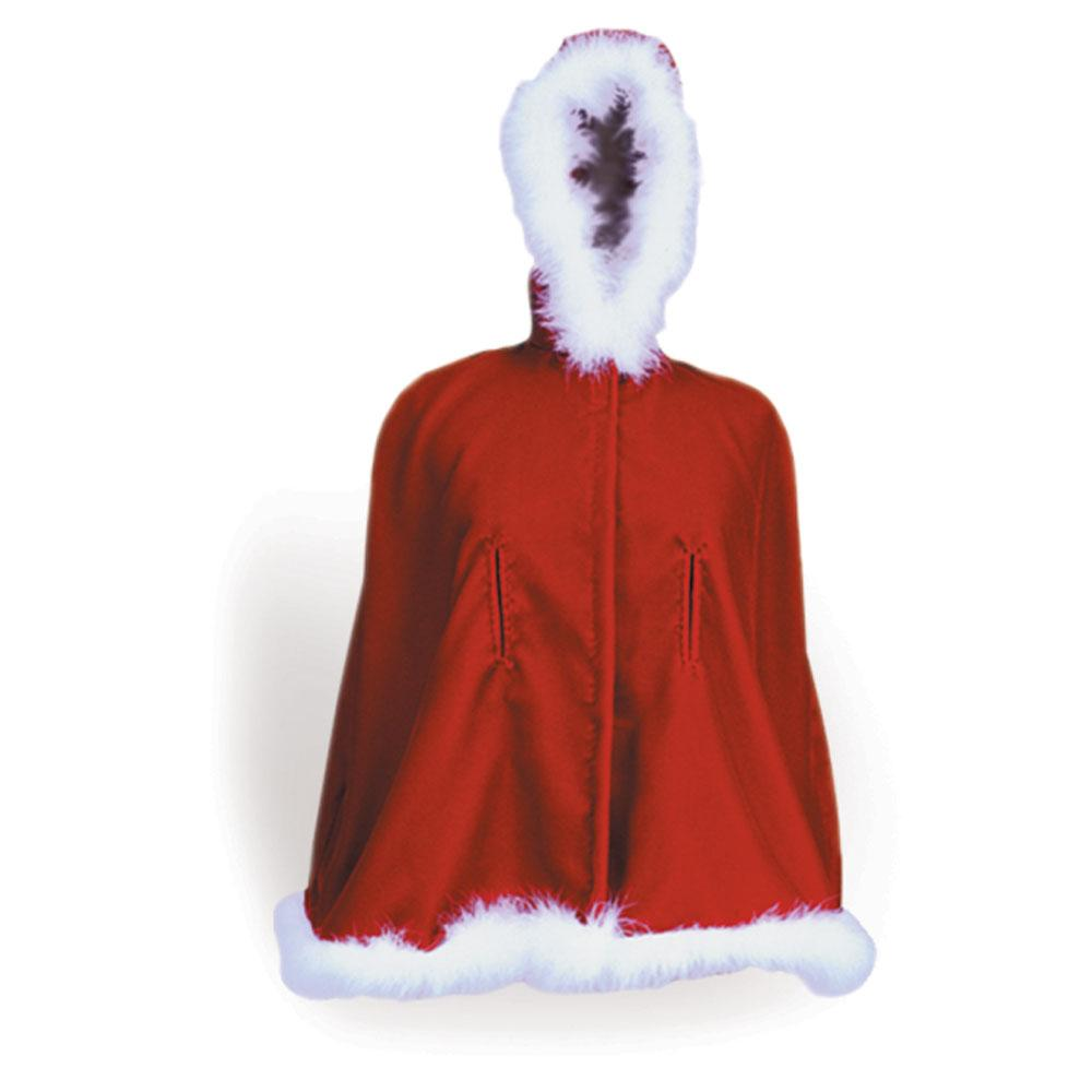 Velvet and Marabou Hooded Christmas Cape