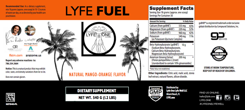 LYFE FUEL Ketosis Nootropic (SOLD OUT)