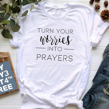 Load image into Gallery viewer, Turn Your Worries Into Prayers Shirt