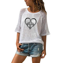 Load image into Gallery viewer, Cross Heart Shirt