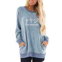 Load image into Gallery viewer, Faith Hope Love Sweatshirt