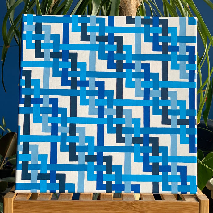 Braids II (Blues) Original Painting