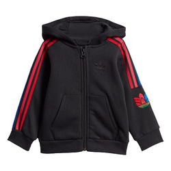 Adidas Kids Unisex Original Adicolor 3D Trefoil Full Zip Hoodie Set - GD2642