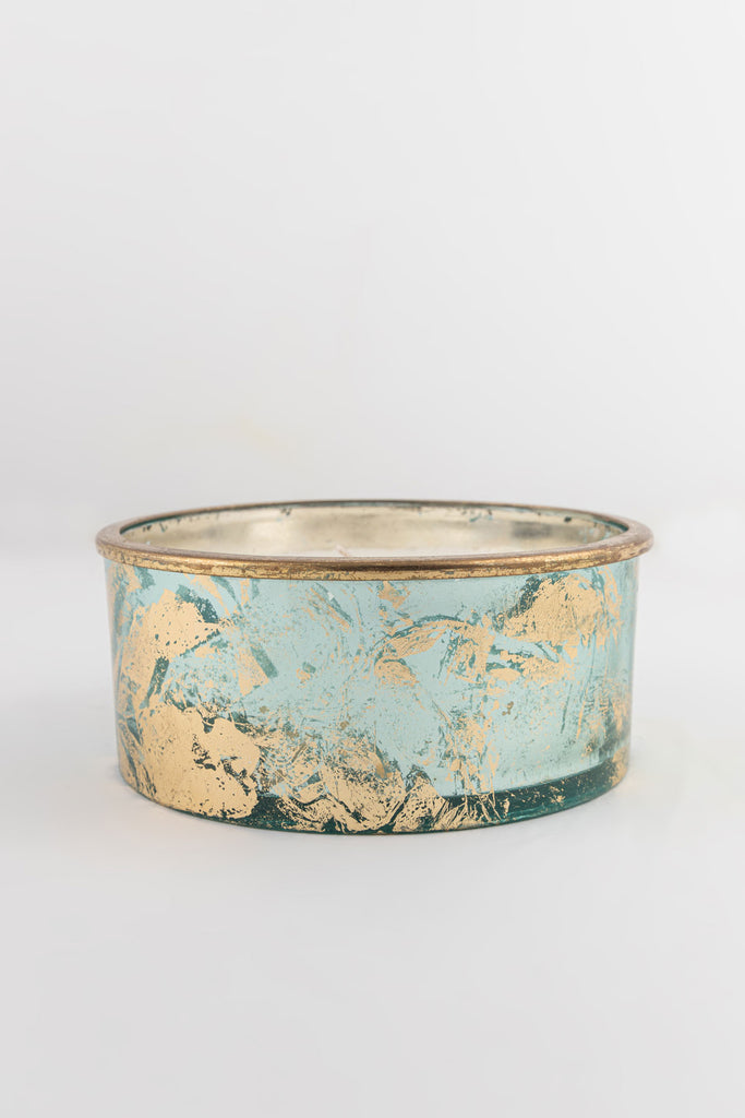 Aqua Foiled Flat Bowl scented candle