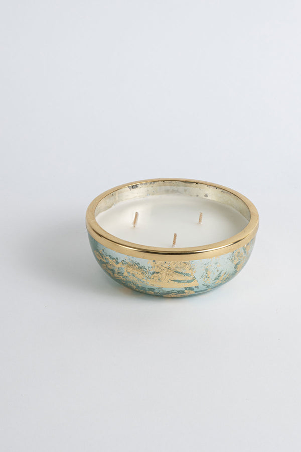Aqua Foiled Mini Bowl | Scented Candle