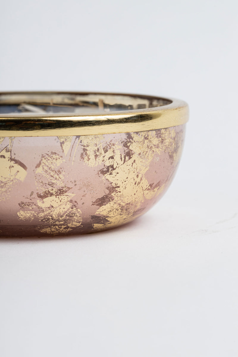 Rose Gold Foiled Mini Bowl scented candle