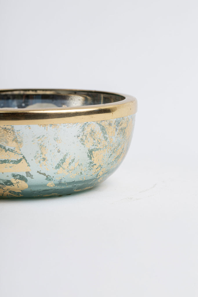 Aqua Foiled Mini Bowl scented candle