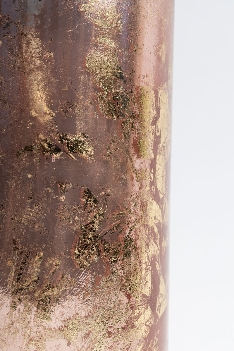 Rose Gold Foiled Cylinder scented candle