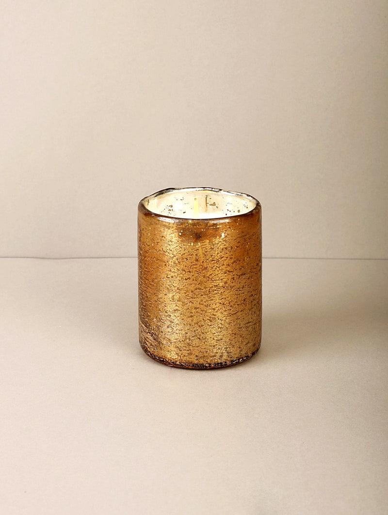 Gold Foiled Cylinder | Scented Candle