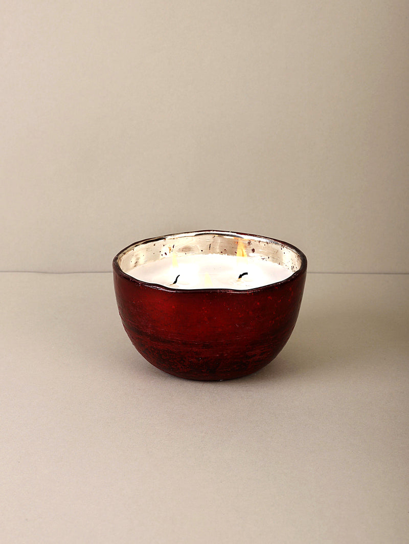 Red Foiled Bowl | Scented Candle