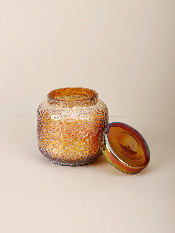 Sugar Pop Lid Jar | Gold | Scented Candle