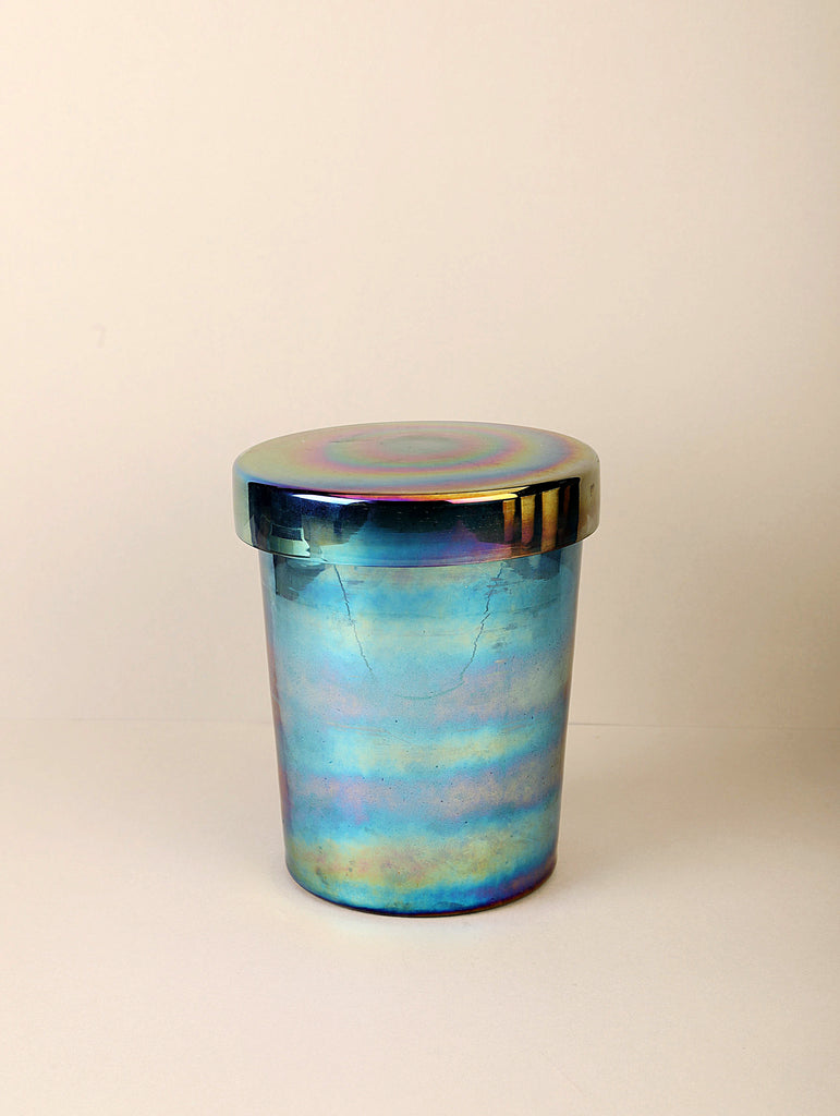 Luster Pop Lid Jar | Peacock | Scented Candle