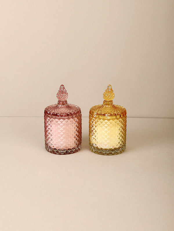 Diamond Jars (Set of 2) - Gold & Rosegold - Scented Candles