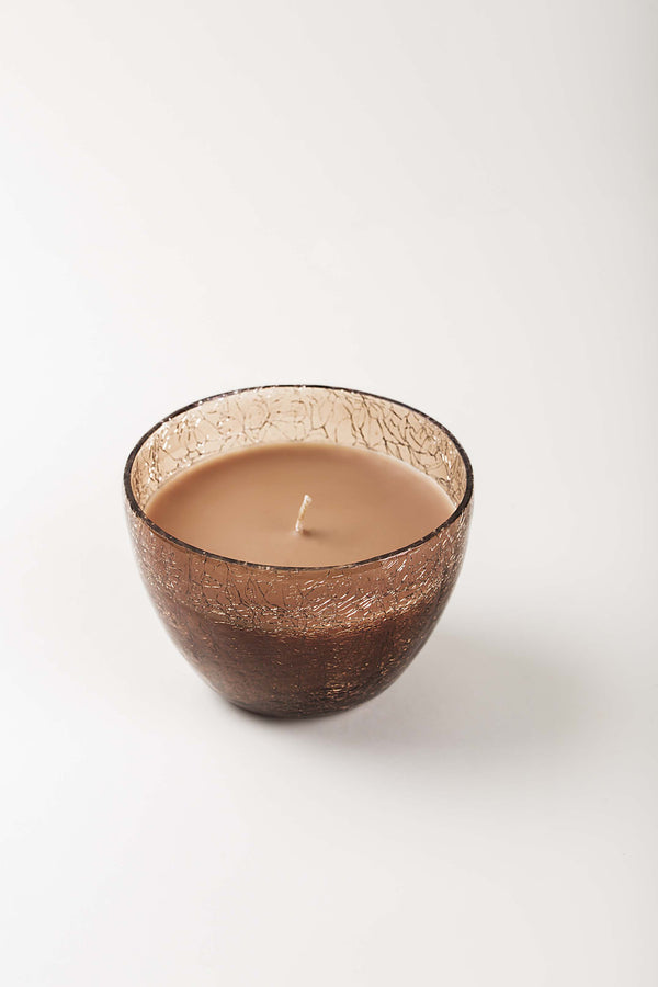Crackled Bell Vase | Brown | scented candle