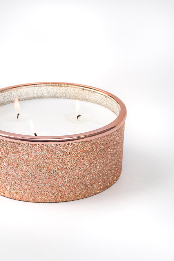 Rose Gold Flat Bowl scented candle