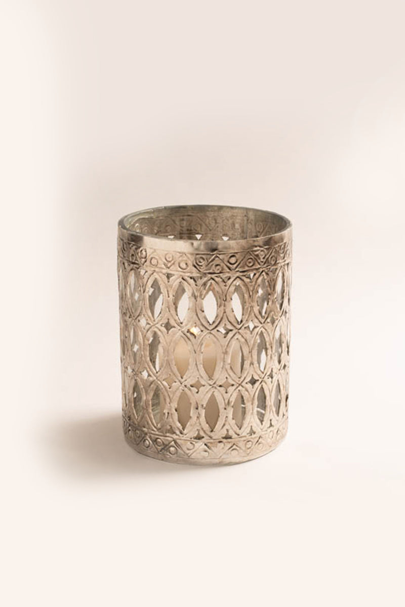 Jaali Cylinder Hurricane | Scented Candle