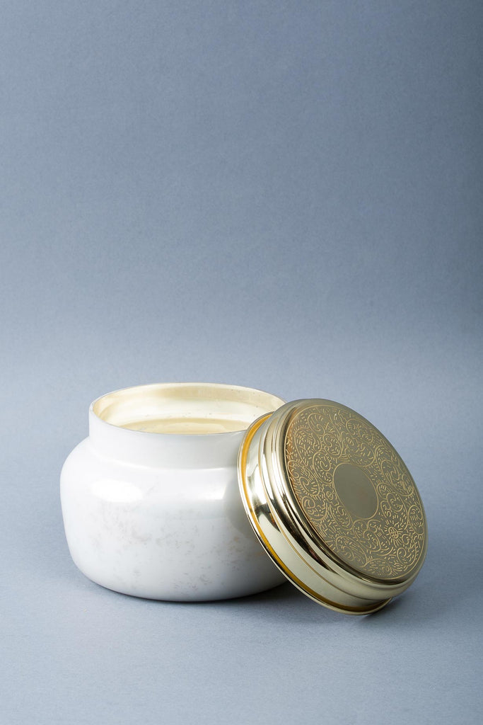 Antique Lid Jar | Milky | scented candle