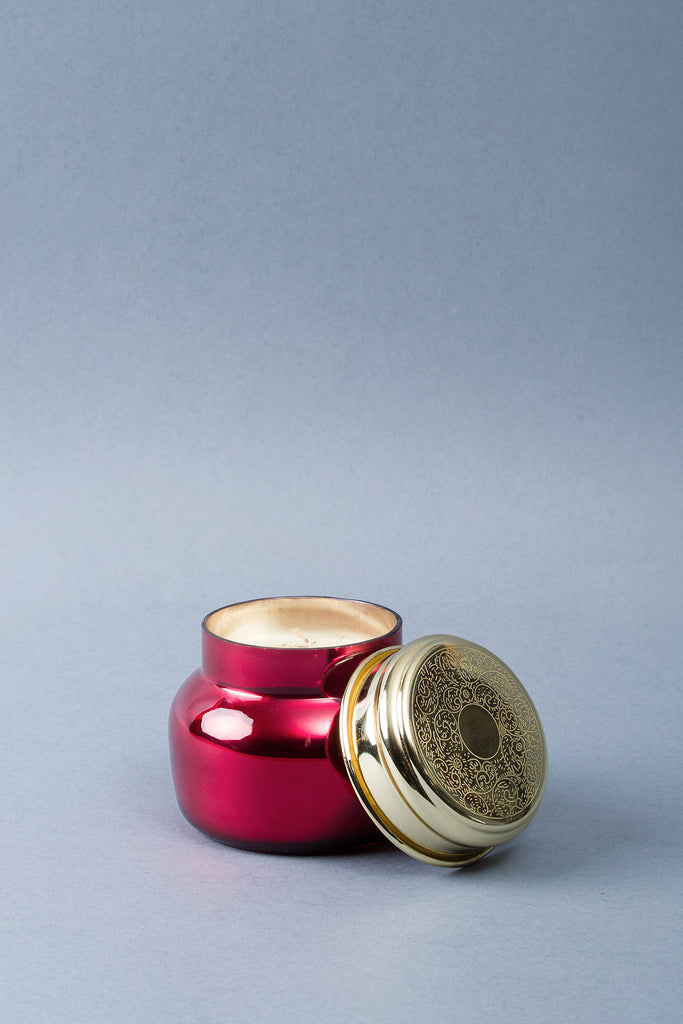 Antique Lid Jar | Red | scented candle