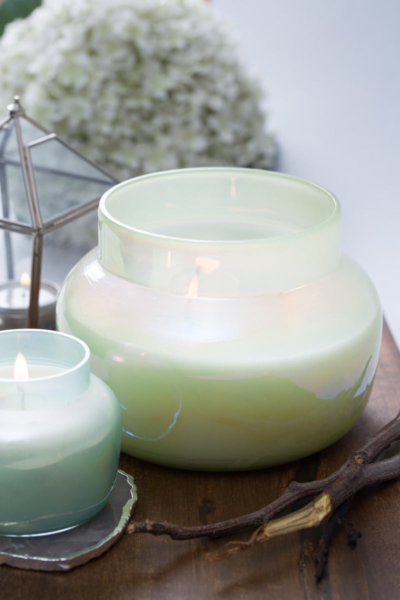 Lustre Lid Jar | Elm Green | Scented Candle